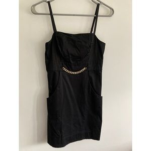 Guess Black dress with pockets and chain detail
